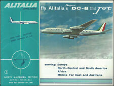 Alitalia Italian Airlines system timetable valid through 10/31/62 [9112]