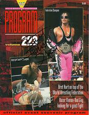EB696 Razor Ramon & Bret Hart signed wrestling Magazine  w/COA  wwe wwf wcw nwa