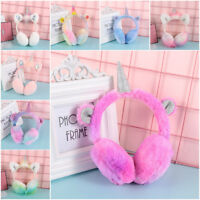 Lovely  Rabbit Fur Winter Warm Earmuffs Ear warmers Plush Unicorn Earmuff