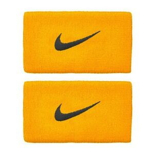 Nike Premier Tennis Double-wide Wristbands Unisex GOLD/BURGUNDYASH