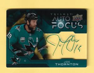 2019-20 Upper Deck Trilogy Joe Thornton Auto Focus Autograph #AF-JT