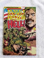 1991 Innovative Desert Storm: Send Hussein To Hell! #1 VF+ CVR Mis-Trimmed