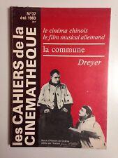 LES CAHIERS DE LA CINÉMATHÈQUE N° 37 / LE CINEMA CHINOIS - FILM MUSICAL ALLEMAND