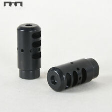 .308 Muzzle Brake for M14x1LH TPI Black Steel Muzzle Device  with Jam Nut