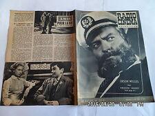 RADIO CINEMA TELEVISION N°335 17/06/1956 ORSON WELLES   G13