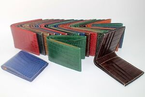 High Quality Crocodile Leather Skin Men's Bifold Wallet (9 Colors Available)
