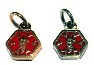 Medical Alert ID Symbol Mini Charms Stainless Steel or Rose Gold