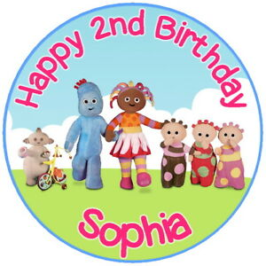"""7.5"""" In the Night Garden Edible Birthday Personalised Cake Topper"""