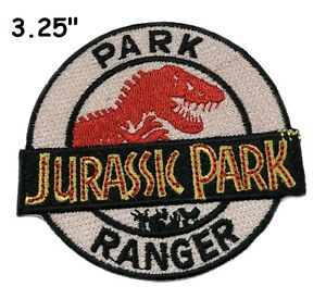"""3.25"""" Jurassic Park Ranger Movie Cosplay Tactical Embroidered Iron-On Patch Gift"""