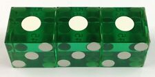 CASINO DICE - SET OF THREE PRECISION MATCHING NUMBERED DICE - FREE SHIPPING
