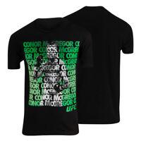 UFC Mens Conor McGregor Repeat T-Shirt - Black