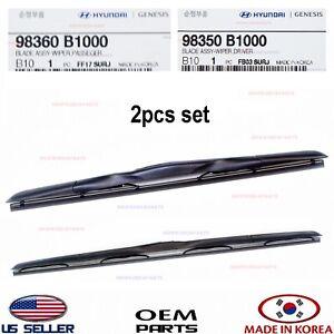 Genuine OEM Wiper Blade Rubber LH 98351B1000 for 2015-2017 Hyundai Genesis G80
