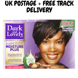 DARK AND LOVELY NO LYE HAIR RELAXER - SUPER + UK POSTAGE + FREE TRACK DELIVERY