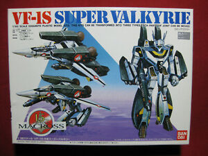 VF-1S Super Valkyrie Bandai Macross 1:100 Transforming Kit Vintage Robotech