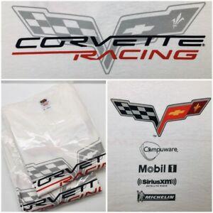 (2) Corvette Racing C6 C7 C8 Men's T-Shirt Size XL NEW