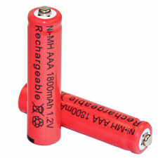 2 pcs AAA 3A 1.2V 1800mah rechargeable battery batteries red