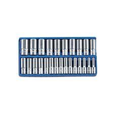 Genius 1/2in Drive 25 Piece Metric 8 - 36mm Deep Hand Socket Set DS-425M