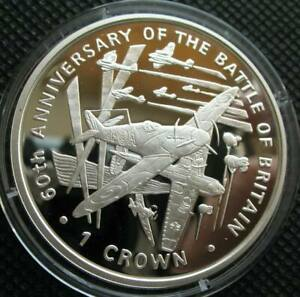 Isle of Man Crown 2000 Sliver Proof Coin 60th Anniversary The Battle of Britain