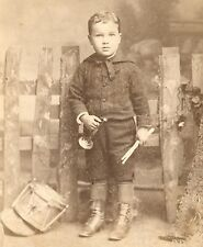Little Boy with Horn and Drum Drummer ID Frederic Abel by Gardner Brooklyn NY