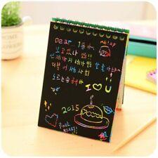 Kids Notepad School Supplies Scratch Black Cardboard DIY Design Notes Children