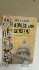 Advise And Consent by Allen Drury antiquarian collectible book 1959 Doubleday