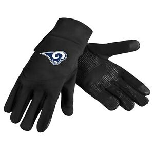 Los Angeles Rams Neoprene Gloves Sports Logo Winter NEW Texting Tips - High End