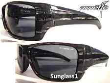 NEW* Arnette HAZARD POLARIZED Grey Lens in Grey Stripe frame Sunglass! 4167 2048