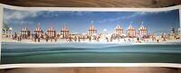 "JAWS ""The Beach"" Art Print Poster JC Richard Signed Full Size 12 X 36 AP Mondo"