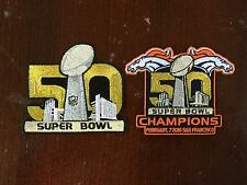 Super Bowl 50 Iron-On And Denver Broncos SB Champions Iron-On Patches Set