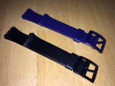 Uhrarmband, Armband passend Swatchuhren Gent, blau, schwarz