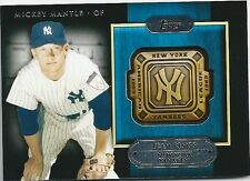 MICKEY MANTLE GTR-MM 2012 TOPPS NEW YORK YANKEES TEAM RING COLLECTION CARD NICE