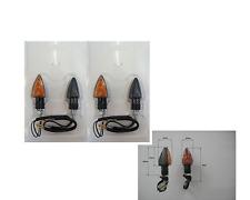 4 FRECCE a LAMPADA CARBON LOOK CORTE OMOLOGATE per MOTO HUSQVARNA