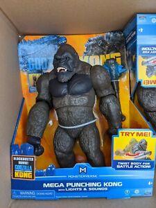"Monsterverse Godzilla Vs Kong 13"" Mega Punching Kong Lights Sounds Playmates NIB"