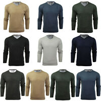 BRAVE SOUL MENS SOFT PULLOVER JUMPER CLASSIC KNITTED PLAIN LIGHTWEIGHT SWEATER