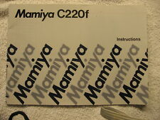 Mamiya C 220 F Instructions