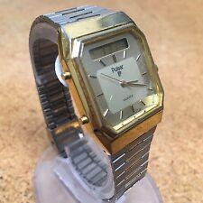 Vintage Pulsar V031 Mens Analog Digital Chrono Quartz Watch Hours~New Battery