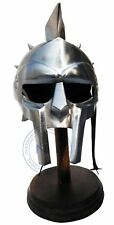Gladiator Armour Helmet Viking Mask Spectacle Roman Medieval Helmets With Stand
