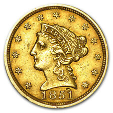 $2.50 Liberty Gold Quarter Eagle Coin - Random Year - Cleaned - SKU #23222