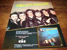 NIGHTRIDER - PUBLICITE UN CAVALIER !!!!!!!!!!!!!