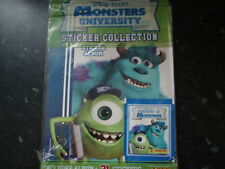DISNEY PIXAR MONSTERS UNIVERSITY STICKER ALBUM--NEW! by PANINI