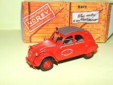 CITROEN 2CV N°042 AZLP POMPIERS St FOY 1957  NOREV Boit