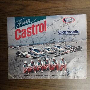 Team Castrol CA Drag Racing Signed Photo ORMSBY FORCE MORGAN AUSTIN NICKENS...