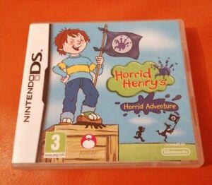 NINTENDO DS GAME HORRID HENRY'S HORRID ADVENTURE COMPLETE NICE CONDITION 3DS 2DS