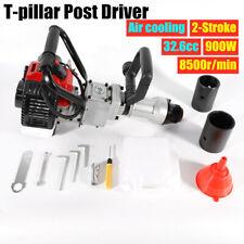 2-Stroke 900W Post Driver Garden Farm Fence Pile Driver T-Pillar Hammer Gasoline