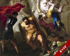 THE DEATH OF SAMSON FINAL ACT PAINTING CHRISTIAN BIBLE ART REAL CANVAS PRINT