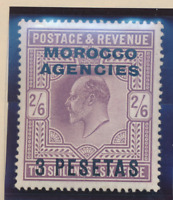 Great Britain, Offices In Morocco Stamp Scott #43, Mint Hinged, Good Centering