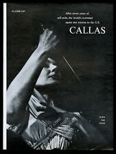 1964 Maria Callas photo x6 returns to the Us vintage print article