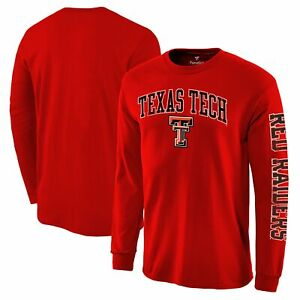 Texas Tech Red Raiders Fanatics Branded Distressed Arch Over Logo Long Sleeve