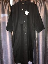 Thomas Pink Ladies Black Long Belted Shirt Dress BNWT Size Small