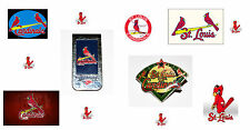 ST. LOUIS CARDINALS MONEY CLIP AND 2001 COLLECTABLE LAPEL PIN. USA SELLER.